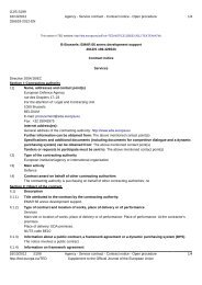 12.ARM.OP.369 Contract Notice - European Defence Agency - Europa