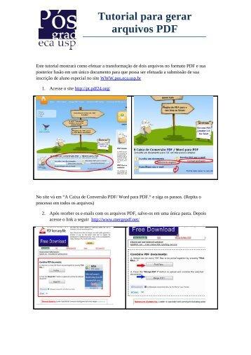 Tutorial para gerar arquivos PDF - ECA-USP