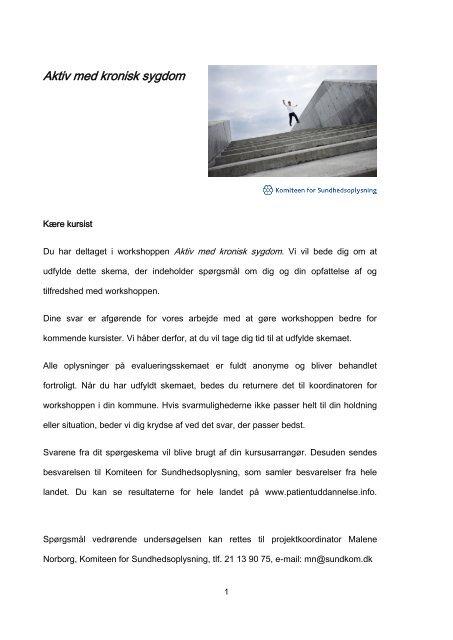 Spørgeskema til gennemførte 2013 (PDF) - Patientuddannelse