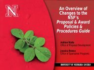 An Overview of Changes to the NSF's Proposal & Award Policies ...