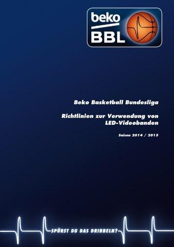 Beko BBL-Richtlinie zur Verwendung von LED-Videobanden 2014-2015