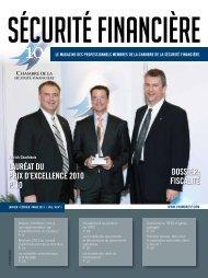 Vol. 36 - No 1 - Chambre de la sécurité financière