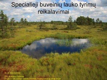 Specialieji buveinių lauko tyrimų reikalavimai - Botanikos institutas
