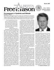 Freemasonry's Symbols and Rituals - Grand Masonic Lodge of Alberta