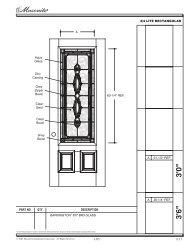 Decorative Glass Insert BR3 - Masonite