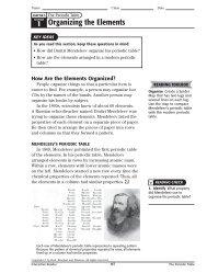 1 Organizing the Elements