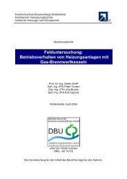 Felduntersuchung: Betriebsverhalten von Heizungsanlagen mit Gas ...