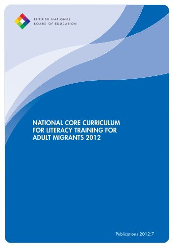 national core curriculum for literacy training for adult migrants 2012