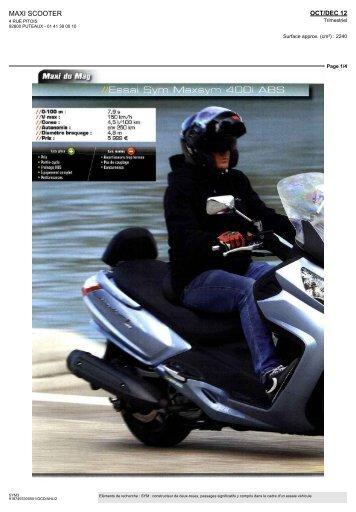 Essai Maxsym 400i ABS par Maxi Scooters