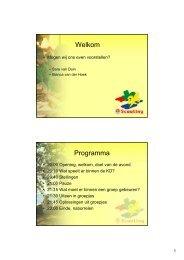 Presentatie ouderavond - ScoutNet Nederland