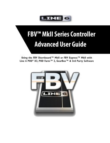 Line 6 FBV MkII Advanced User Guide, English (Rev. 2)