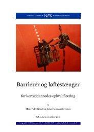 Barrierer og løftestænger elektronisk - VBN - Aalborg Universitet
