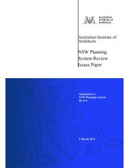 NSW Planning System Review Issues Paper - Australian Institute of ...