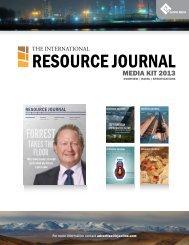 Media Kit - The International Resource Journal