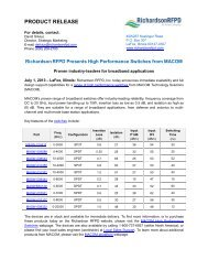 Presenting High Performance Switches from ... - Richardson RFPD