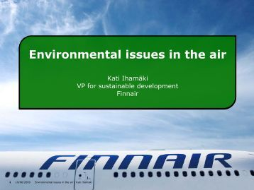 Finnair's new environmental awareness policies