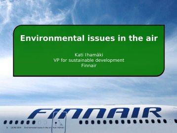 Finnair's new environmental awareness policies