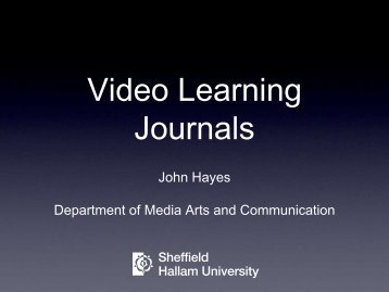 Video Learning Journals - StudyNet