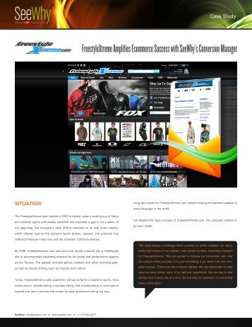 FreestyleXtreme Amplifies Ecommerce Success with SeeWhy's ...