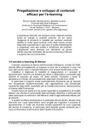 Progettazione e sviluppo di contenuti efficaci per ... - Didamatica 2010