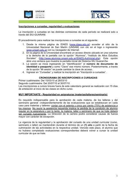 Solicitudes de Certificados - Instituto de Altos Estudios Sociales
