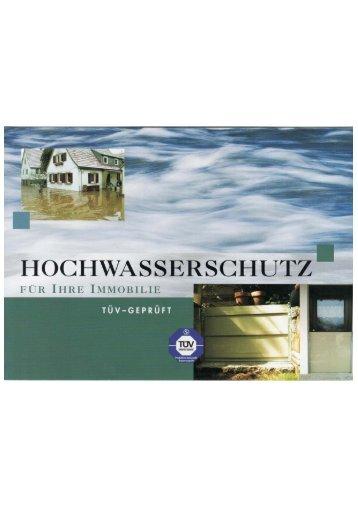 Prospekt, Deutsch (pdf) - Hochwasserschutz