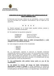 Bases Concurso Tanguillos 2014 - Ayuntamiento de Cádiz