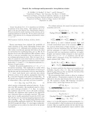 Search for exchange-antisymmetric two-photon states - University of ...