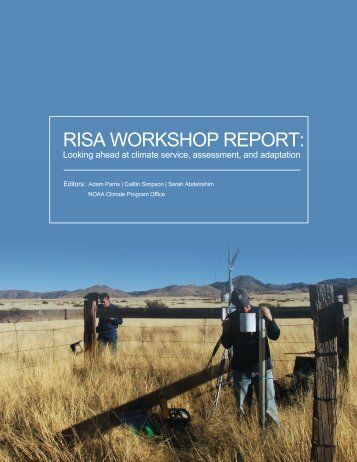 Download the workshop report - Climate Program Office - NOAA