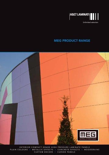 MEG laminate brochure - External Cladding