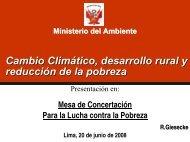 Cambio Climatico: Vulnerabilidad y Adaptación - Mesa de ...