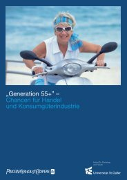 """""""Generation 55+"""" – Chancen für Handel und ... - htp St. Gallen"""