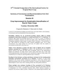 Crop improvement for sustainable - 15th Triennial Symposium of the ...