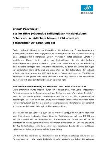 894b4350647 Pressemeldung - Essilor GmbH
