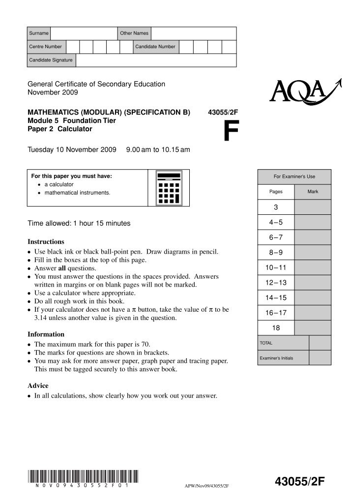 maths paper unit 1 higher nov10 Paper reference p45905a p45905a0116 mathematics b unit 1: statistics and probability (calculator) higher tier wednesday 4 november 2015 – morning.