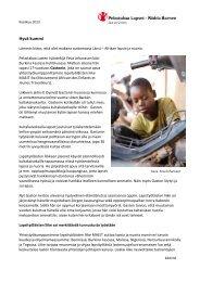 LÄNSI-AFRIKKA kummikirje 1_2013.pdf - Pelastakaa Lapset ry