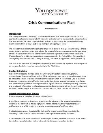 hcs 350 week 5 crisis management Crisis management hcs 350  a crisis is defined as a time of intense difficulty, trouble or danger this situation can come in the form of an important decision must.