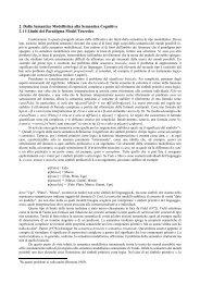 cap. 2 - Dalla semantica modellistica alla semantica ... - Filosofia