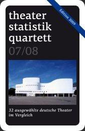 Theaterstatistikquartett Preview - Axel Kopp