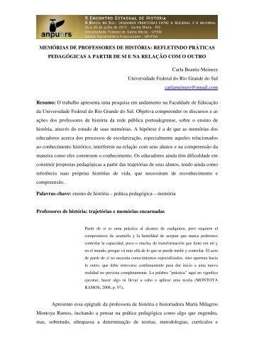 Carla Beatriz Meinerz - X Encontro Estadual de História – ANPUH-RS