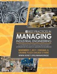 best practices in managing industrial engineering 2 - Institute of ...