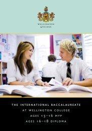 the international baccalaureate at wellington college ... - Jules Akel