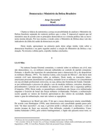 Democracia e Ministério da Defesa Brasileiro - Resdal