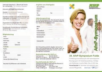 34. AfnP-Symposium Fulda -  AfnP eV