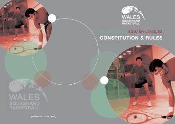 WELSH SQUASH LEAGUE RULES - Squash Wales