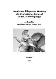 Inspektion, Pflege und Wartung als Strategisches Konzept in der ...