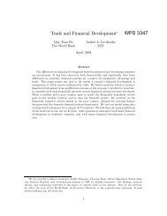 World Bank Policy Research Working Paper 3347 - Andrei Levchenko