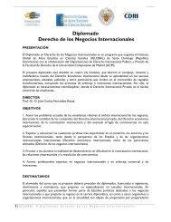 Diplomado Derecho de los Negocios Internacionales