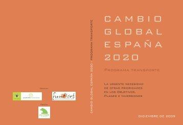 Cambio Global España 2020/50. Programa Transporte