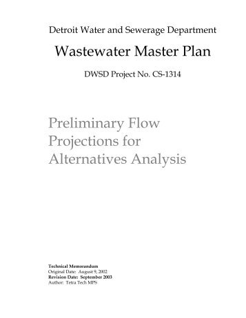 Preliminary Flow Projections for Alternatives Analysis - Detroit Water ...